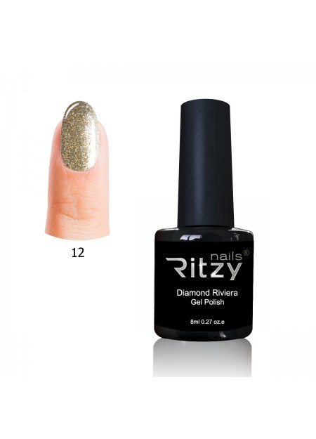 Diamond Riviera Gel Polish Tiffany Gold 12