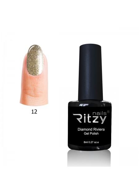 Diamond Riviera Gel Polish Tiffany Gold 12