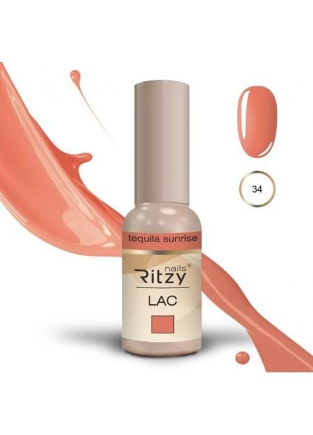 Ritzy Lac UV/LED gel polish Tequila Sunrise 34