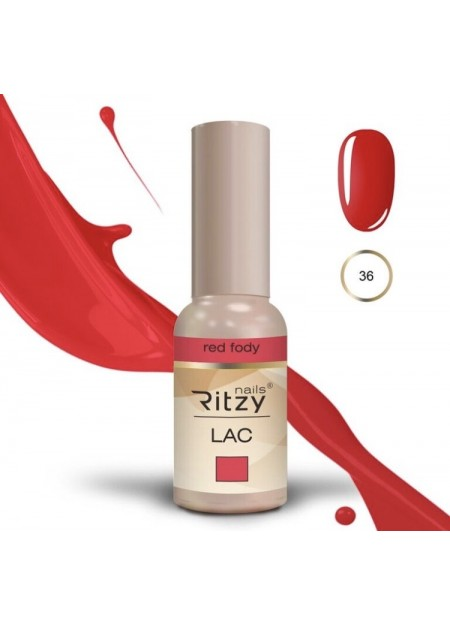 Ritzy Lac UV/LED gel polish Red Fody 36