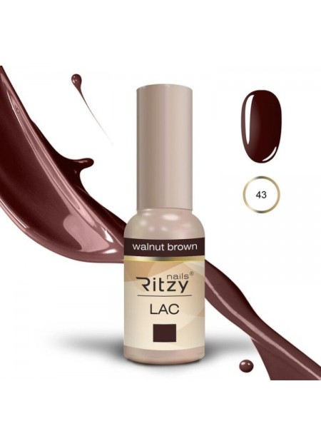 Ritzy Lac UV/LED gel polish Walnut Brown 43