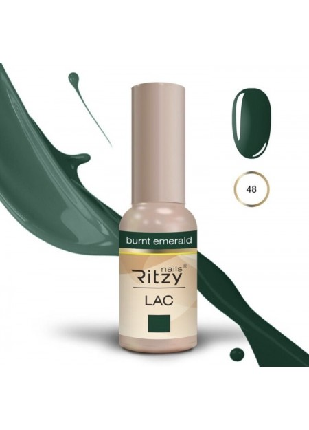 Ritzy Lac UV/LED gel polish Burnt Emerald 48
