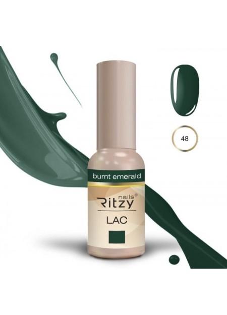 Ritzy Lac UV/LED gel polish Burnt Emerald 48
