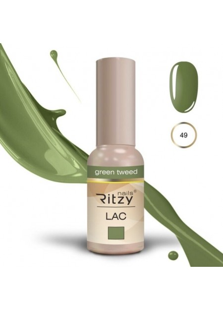 Ritzy Lac UV/LED gel polish Green Tweed 49