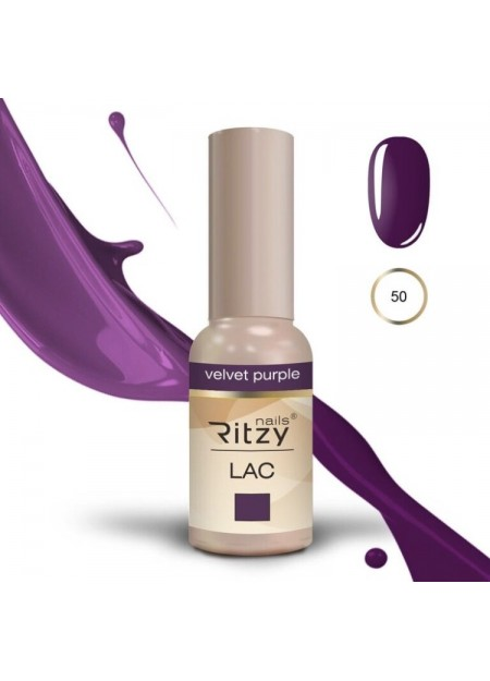 Ritzy Lac UV/LED gel polish Velvet Purple 50