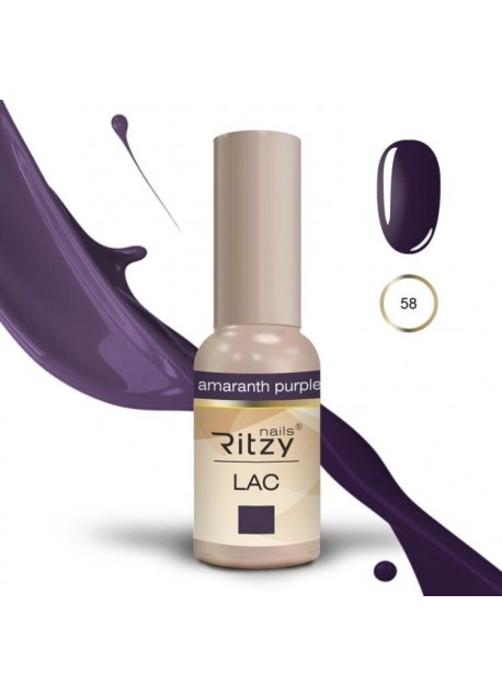 Ritzy Lac UV/LED gel polish Amaranth Purple 58