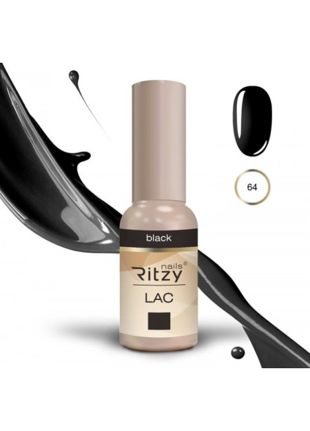 Ritzy Lac UV/LED gel polish Black 64