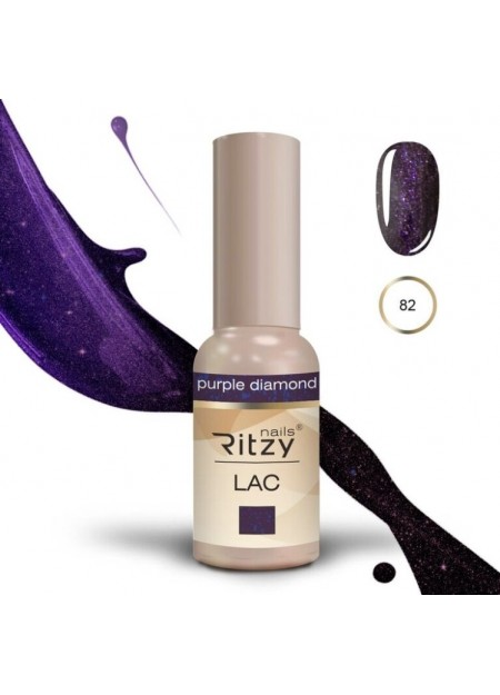 Ritzy Lac UV/LED gel polish Purple Diamond 82