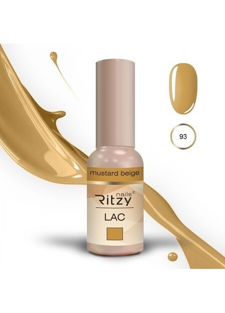 Ritzy Lac UV/LED gel polish Mustard Beige 93