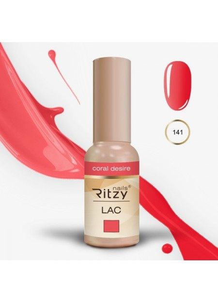 Ritzy Lac UV/LED gel polish Coral Desire 141 9ml