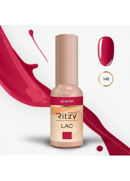 Ritzy Lac UV/Led gel polish Scarlet 148 9ml