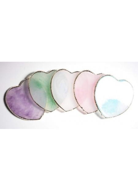 Crystal Plate Καρδια ροζ
