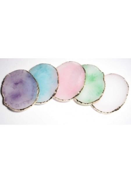 Crystal Plates Στρογγυλη Λευκη