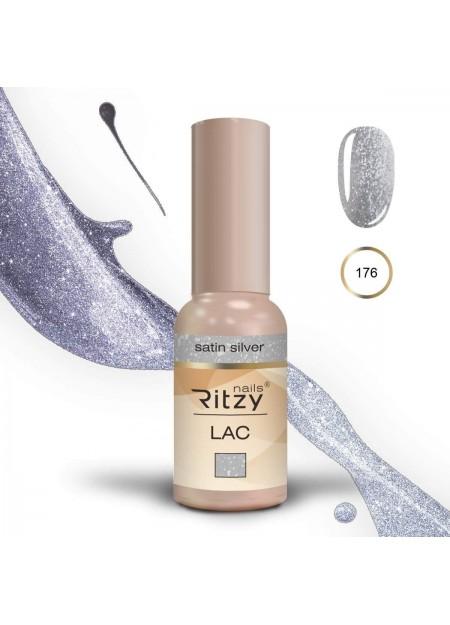 Ritzy Lac gel polish Uv/Led Satin Silver 176 9ml