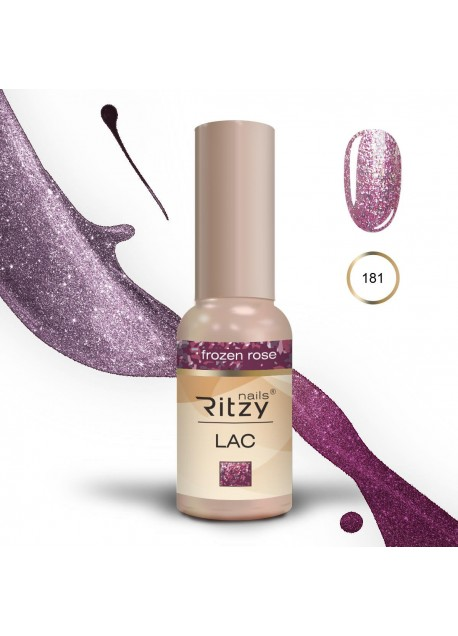 Ritzy Lac gel polish Uv/Led Frozen Rose 181 9ml